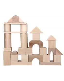 Дерев'яний конструктор кубики Будівельник Еко, KomarovToys - Kom A316