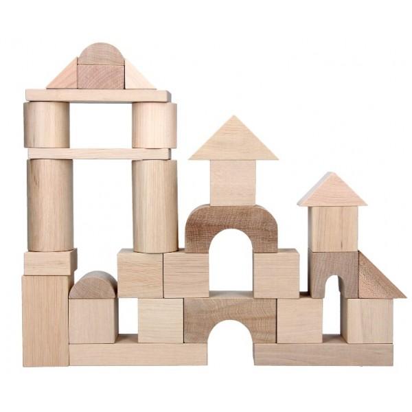 фото Дерев'яний конструктор кубики Будівельник Еко, KomarovToys - Kom A316