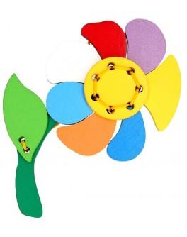 Деревянная шнуровка Цветик-семицветик, Komarovtoys - kom 122