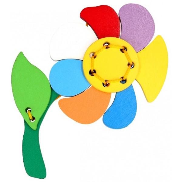 игрушка шнуровка Цветик семицветик, KomarovToys