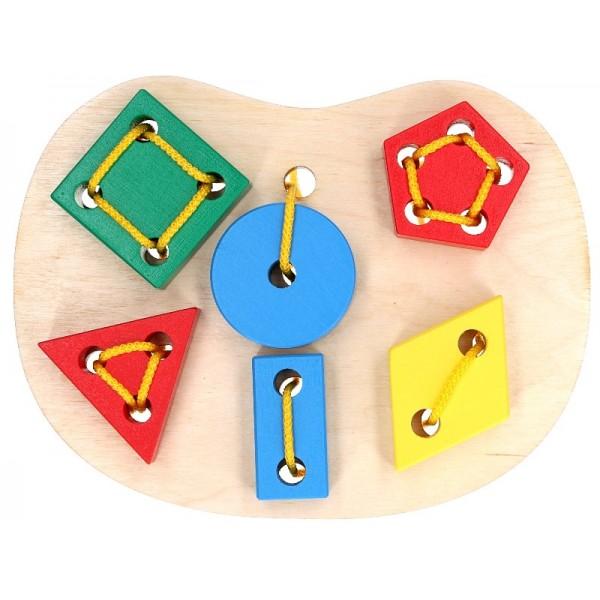 игрушка шнуровка Геометрическая, KomarovToys