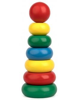 Деревянная игрушка Пирамидка 7 элементов, Komarovtoys - Kom 301