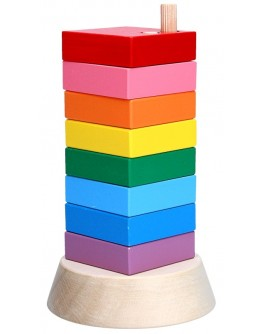 Деревянная игрушка Пирамидка Вундеркинд, Komarovtoys - Kom 324