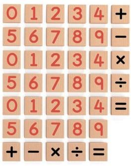 Набор магнитных цифр и знаков Viga Toys, 40 шт. (50591)