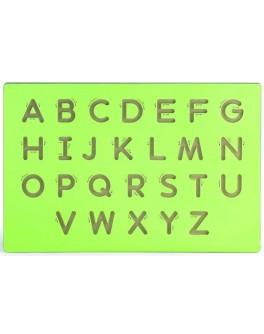 Настінний набір для освоєння написання заголовних букв латинського алфавіту Viga Toys (50857)