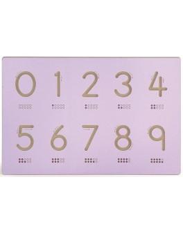 Дошка для освоєння написання арабських цифр з виїмками у вигляді цифр Viga Toys (50859)