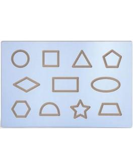 Дошка для освоєння малювання фігур з виїмками у вигляді різних фігур Viga Toys (50860)