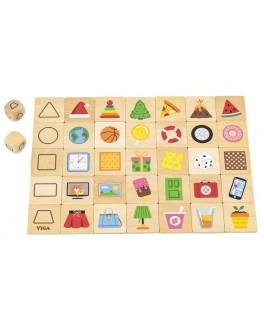 Дерев'яна гра пазл Viga Toys Вивчаємо форми (44506)