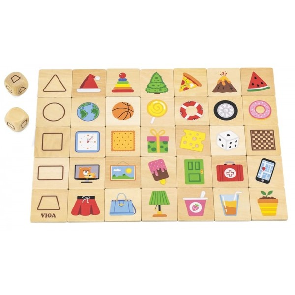 Вивчаємо форми Дерев'яна гра пазл Viga Toys