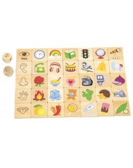Дерев'яна гра пазл Viga Toys Органи почуттів (44507)