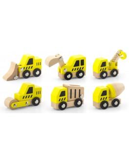 Набір іграшкових машинок Viga Toys Будтехніка, 6 шт. (50541)