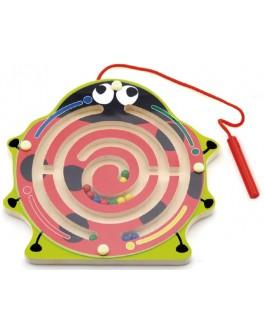 Дерев'яний магнітний лабіринт Viga Toys Сонечко (59964)