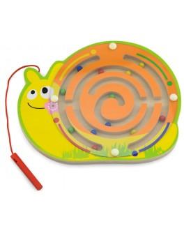 Дерев'яний магнітний лабіринт Viga Toys Равлик (59966)