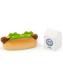 Игрушечные деревянные продукты Viga Toys Хот-дог и молоко (51601)