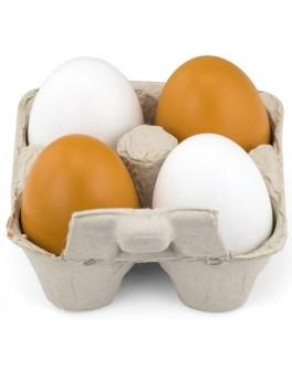 Іграшкові дерев'яні продукти Viga Toys Яйця в лотку, 4 шт. (50044)