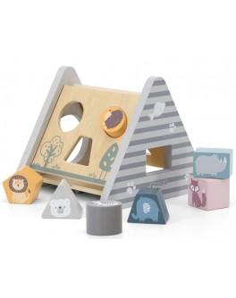 Деревянный сортер Viga Toys PolarB Развитие 5 в 1 (44007)