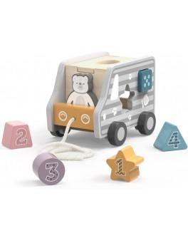 Дерев'яна каталка-сортер Viga Toys PolarB Вантажівка (44041)