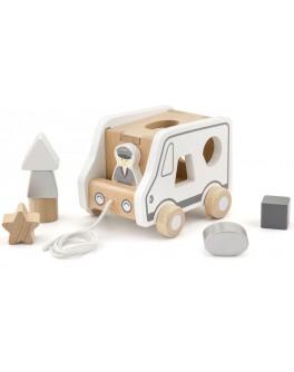 Дерев'яна каталка-сортер Viga Toys Вантажівка (51612)