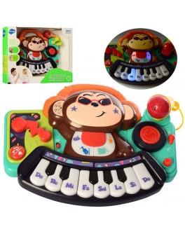 Музыкальная игрушка Hola Toys Пианино детское Обезьянка (3137)