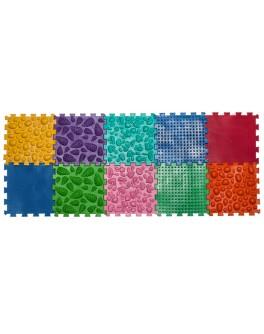 Килимок масажний Пазли Мікс 10 елементів - orto 09428
