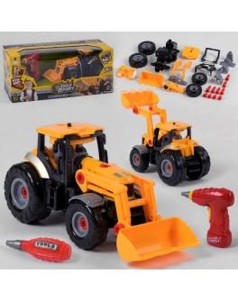 Машина конструктор Bohui Трактор с инструментами (661-429)