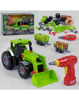Машина конструктор Bohui Трактор с инструментами (661-427)