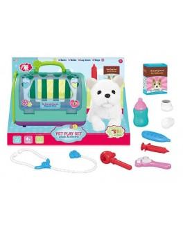 Ігровий набір JIA YU TOY Собачка з набором доктора, в валізі, на батарейках, ходить гавкає (T 813-2)
