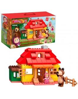 Конструктор пластиковый Маша и Медведь Qman Дом Маши 96 деталей (5211)
