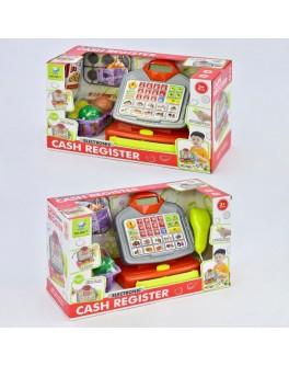 Детский игровой кассовый аппарат с корзиной, продуктами, звук, свет (66077)