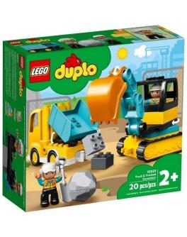 Конструктор LEGO DUPLO Вантажівка та гусеничний екскаватор (10931)