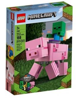 Конструктор LEGO Minecraft Свиня і малюк-зомбі (21157)