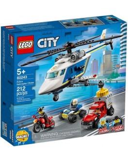 Конструктор LEGO City Погоня на поліцейському гелікоптері (60243)