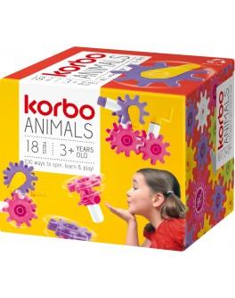 Набор для творческого конструирования Korbo Animals, 18 деталей