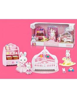 Набір меблів Щаслива сім'я з флоксовою твариною Дитяча Кімната (6618)
