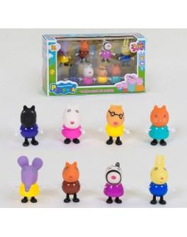 Фігурки з мультфільму Свинка Пеппа 8 фігурок (YM 665-11)
