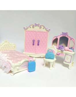 Ігровий набір WU JIA Меблі для флоксових тваринок - Спальня (53-416)