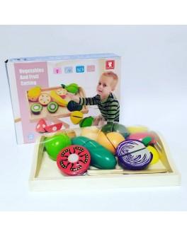 Дерев'яна гра Vivi Wood Toy Продукти на липучках (С 39280)