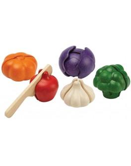 Дерев'яна іграшка Plan Toys Вегетаріанський набір овочів (3431)