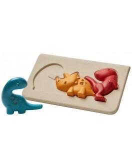 Дерев'яна іграшка Plan Toys головоломка Діно (4642)