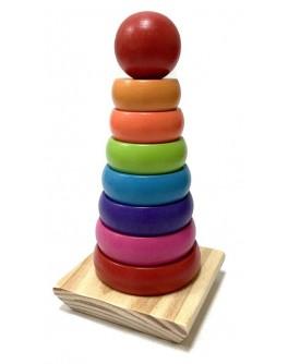 Дерев'яна іграшка Limo Toy Пірамідка (MD 1215)