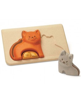 Дерев'яна іграшка Plan Toys головоломка Кішка (4637)