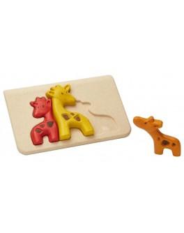 Дерев'яна іграшка Plan Toys головоломка Жираф (4634)