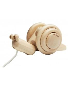 Дерев'яна іграшка Plan Toys Каталка равлик (5722)