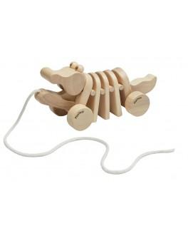 Дерев'яна іграшка Plan Toys Каталка танцюючий крокодил (5721)
