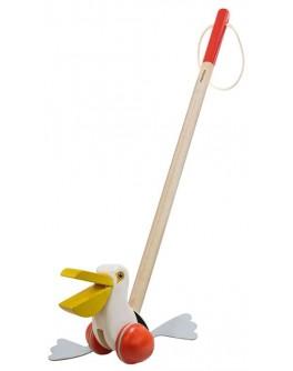 Дерев'яна іграшка Plan Toys Каталка пелікан (5718)