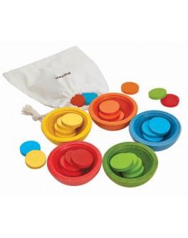 Дерев'яна іграшка Plan Toys Чашки-сортер (5360)