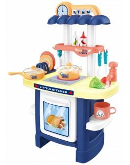 Дитяча кухня з реалістичними звуками та світловими ефектами та холодною парою, синя (3622A)