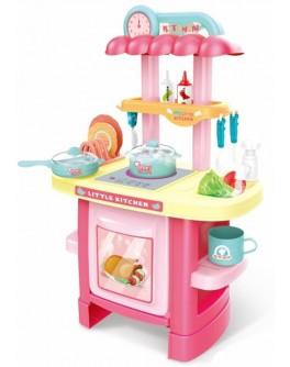 Дитяча кухня з реалістичними звуками та світловими ефектами та холодною парою, рожева (3620A)
