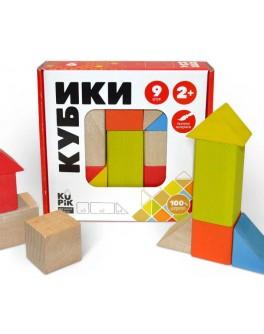 Дерев'яні кубики Ігротеко кольорові 9 шт (900163)