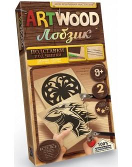 Набір для творчості Danko Toys Artwood Вирізання лобзиком Підставка під чашку міні (LBZ-02-02)